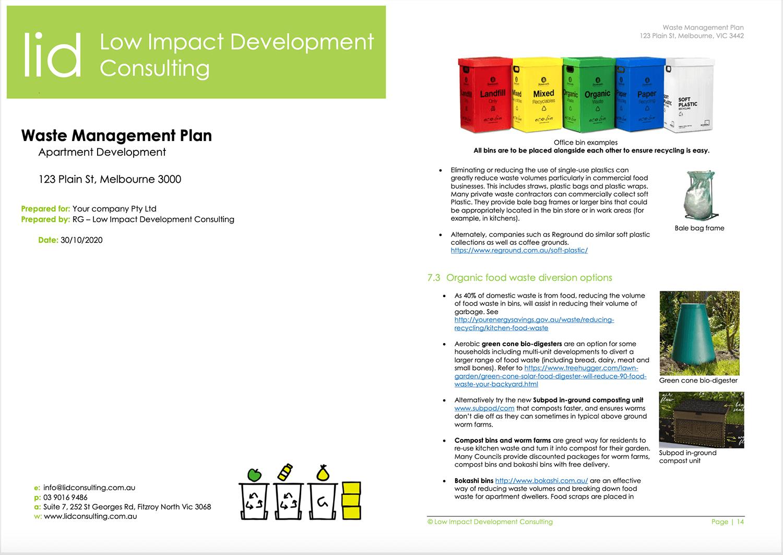 Sample waste management plan